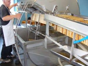 Extraction de cadre de miel grâce à la force centrifuge