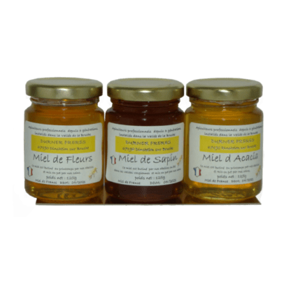 Coffret miel Sapin, Fleurs, Acacia